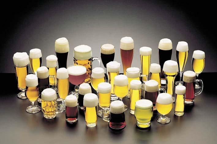 много бокалов разного пива картинка