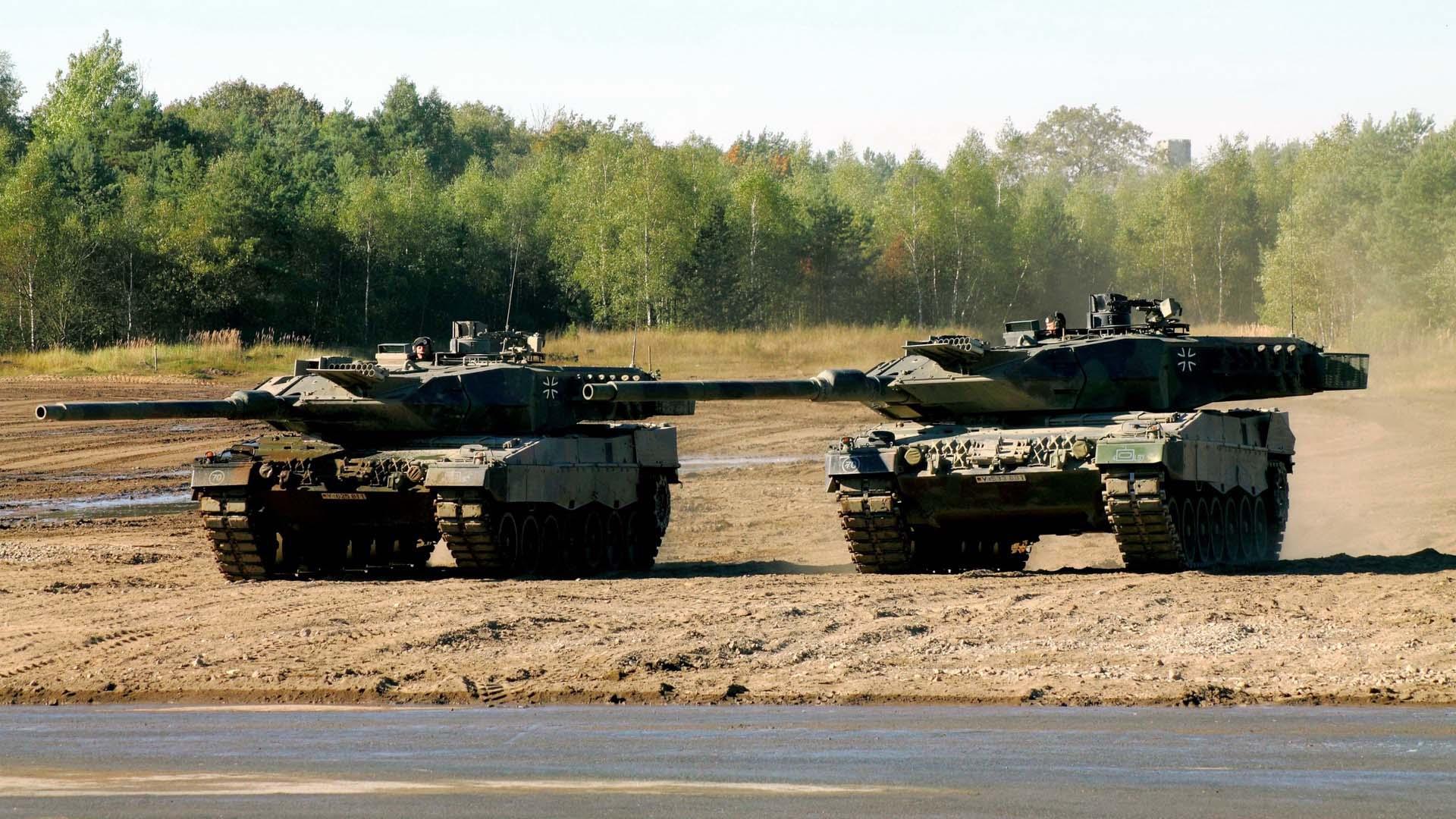 Cовременные танки Германии Леопарды