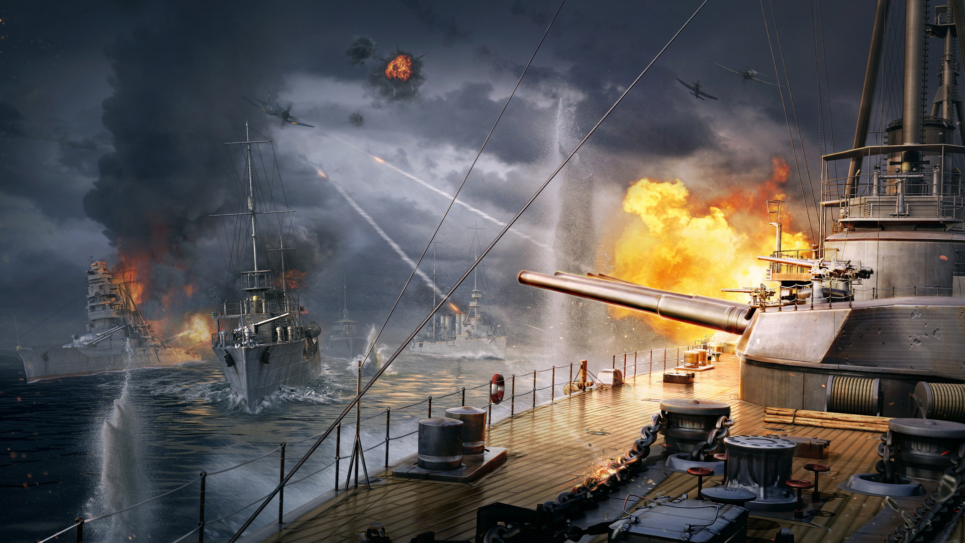Обои warships photoshop download kostenlos - bd