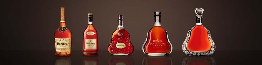 Разные бутылки Хеннесси