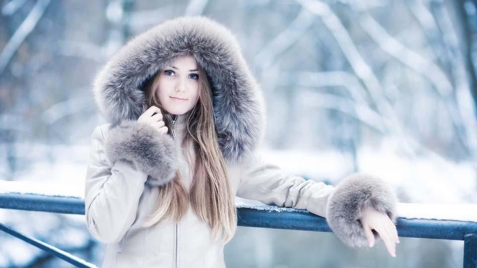 зима картинки девушки