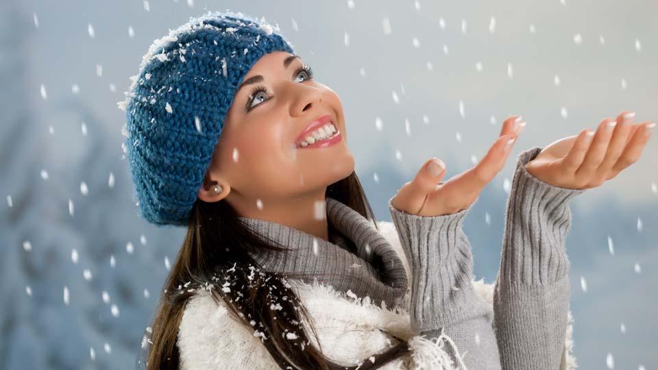 красивые девушки зимой