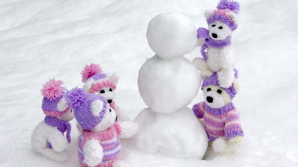 обои со снеговиками