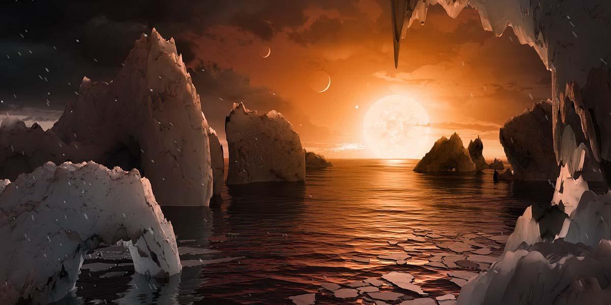 Nasa 7 планет в системе Trappist возможный ландшафт