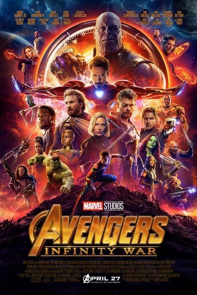 Мстители Война бесконечности (2018) постер