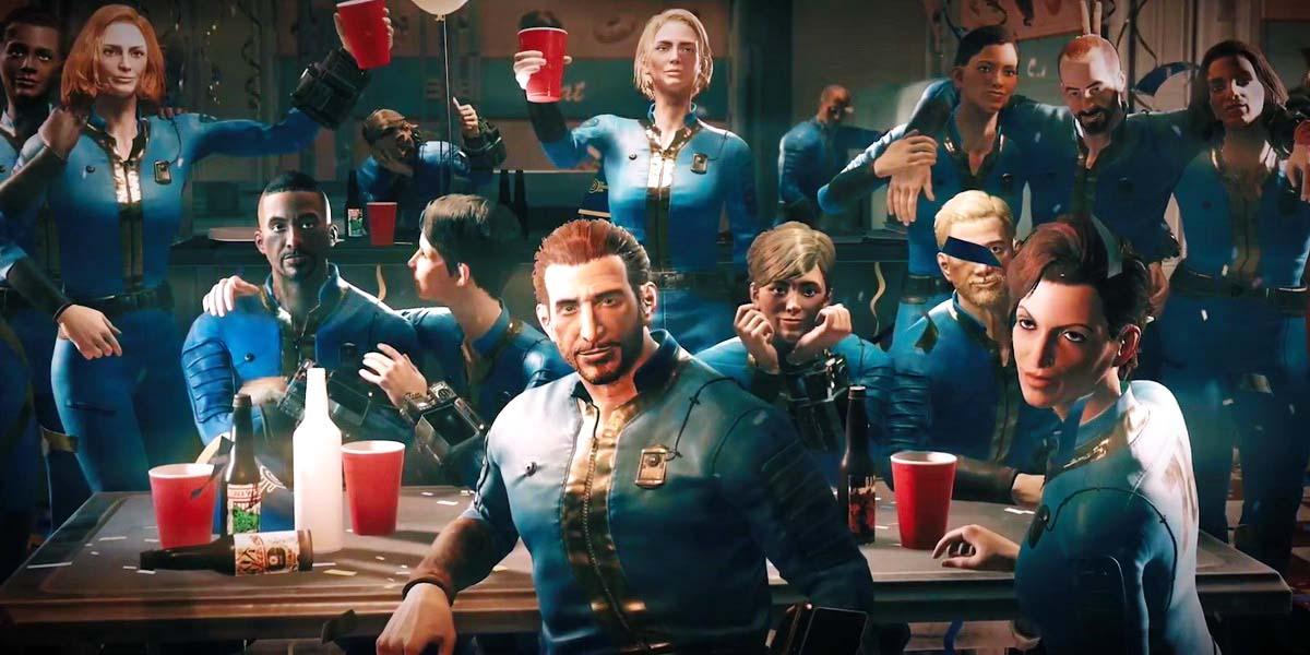 """Игра """"Fallout 76"""" (2018) - Русский вступительный ролик Постер"""