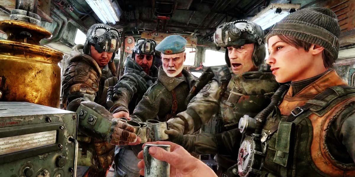 """Игра """"Metro Exodus"""" (2019) - Русский трейлер """"Вскрытие"""" Постер"""