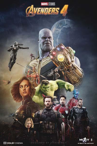 Мстители 4: Финал (2019) постер