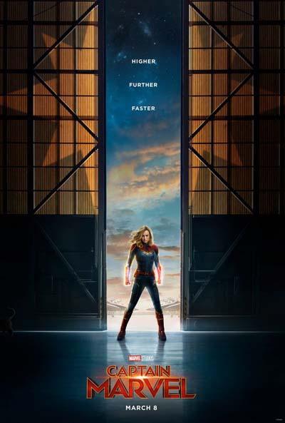 Капитан Марвел (2019) постер