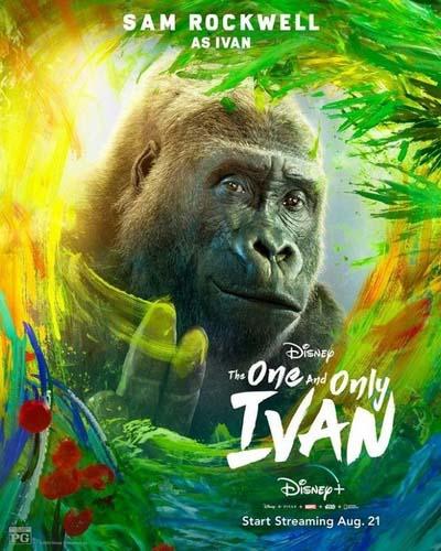 Айван, единственный и неповторимый (2020) постер