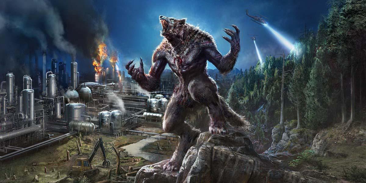 """Игра """"Werewolf: The Apocalypse - Earthblood"""" (2020) Постер"""