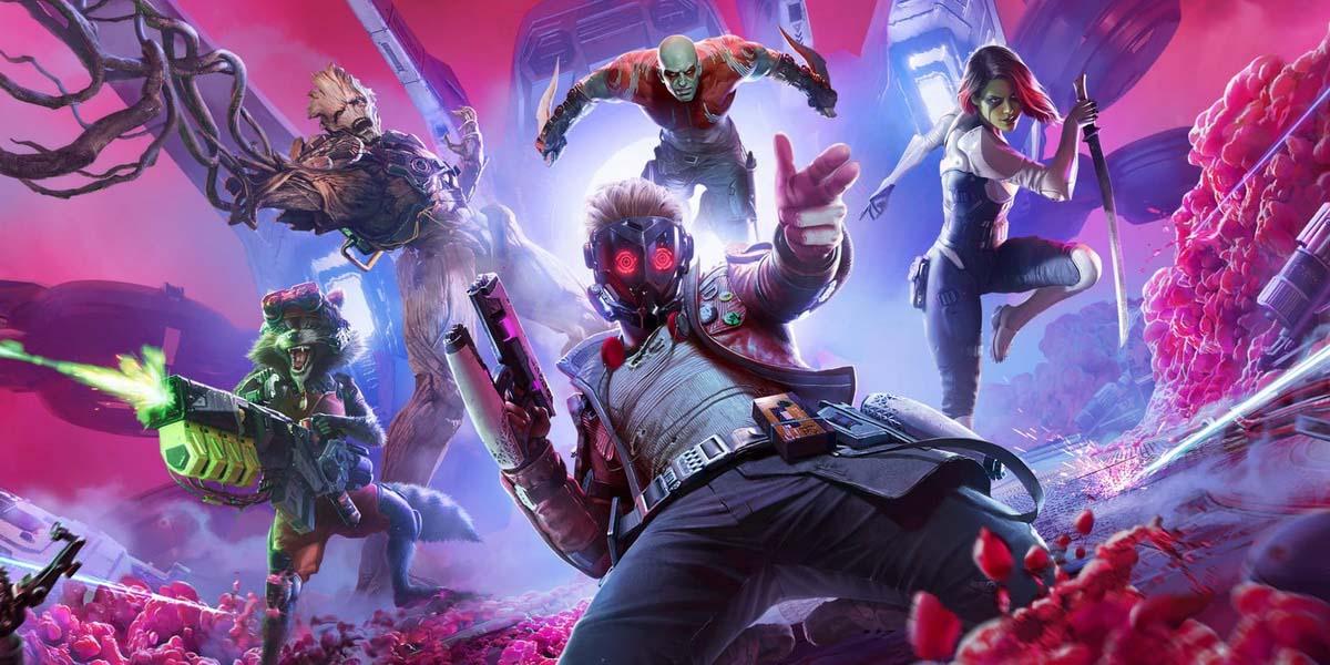 """Игра """"Marvel's Guardians of the Galaxy"""" (2021) Постер"""